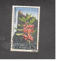 Europe - Saint-Marin - 1967 -  Flowers 1967 - Purple Deadnettle (Lamium Purpureum) - Saint-Marin