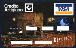 ITALY - ITALIE - ITALIEN - ITALIA CREDITO ARTIGIANO VISA CLASSIC BANK CARD ARCH OF CONSTANTINE ROME VERY GOOD CONDITION - Geldkarten (Ablauf Min. 10 Jahre)