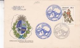 VISITA DEL PRESIDENTE DE LA REPUBLICA FEDERAL DEL BRASIL. FDC. AÑO 1985. CORREOS DEL URUGUAY- BLEUP - Uruguay