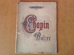 Ancien Livre Partition Walzer De Chopin - Partitions Musicales Anciennes