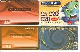 4-CARTES+PREPAYEES-ROYAUME UNI-SWIFCALL-- TBE - Royaume-Uni