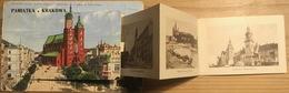 PAMIATKA KRAKOWA Lepoprello Postcard With 10 Pictures Sent 1935 - Polen