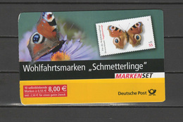 Germany 2005 Butterflies Stamp Booklet With 10 Self Adhesive Stamps MNH - Schmetterlinge