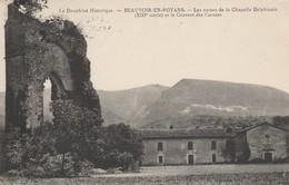 38 - BEAUVOIR EN ROYANS - Les Ruines De La Chapelle Delphinale (XIIIe Siècle) Et Le Couvent Des Carmes - France