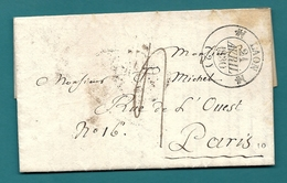 Aisne - Chamouille Pour Paris. CàD Type 12 De Laon. 1830 - Marcophilie (Lettres)