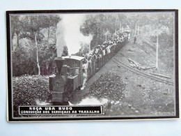 C.P.A. : SAO TOME : Roca UBA BUDO : Conducçao Dos Serviçaes Ao Trabalho - Sao Tome Et Principe