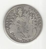 1 Thaler Electorat De Bavière 1768 - Taler & Doppeltaler
