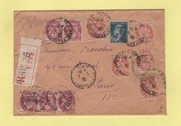 Type Blanc - Recommande 2eme Echelon - Paris - 6-5-1930 - Type Pasteur Congres Du BIT - 1877-1920: Semi Modern Period