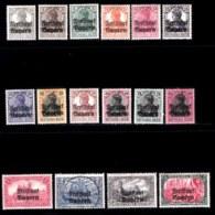 BAYERN, 1919, Mint Hinged Stamp(s) , Ludwig III, Overprint, M136=151,  Scan 15165  16 Values, Cpl. - Bavaria