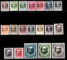 BAYERN, 1919, Used Stamp(s) , Ludwig III, Overprint, M152-170,  Scan 15166,  19 Values, Cpl. - Bavaria