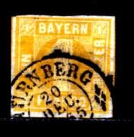 BAYERN, 1862, Used Stamp(s) , Number Stamps   M8,  Scan 15171, 1 Kr, - Bavaria