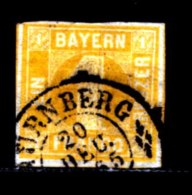 BAYERN, 1862, Used Stamp(s) , Number Stamps   M8,  Scan 15171, 1 Kr, - Bayern
