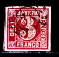 BAYERN, 1862, Used Stamp(s) , Number Stamps   M8,  Scan 15174, 3Kr, - Bavaria