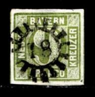 BAYERN, 1850, Used Stamp(s) , Number Stamps  M5,  Scan 15180, 9 Kr Green, - Bavaria