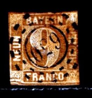 BAYERN, 1862, Used Stamp(s)   Number Stamps M11,  Scan 15183, 9 Kr Brown, - Bavaria