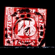 BAYERN, 1862, Used Stamp(s)   Number Stamps M13,  Scan 15184, 18 Kr Red, - Bavaria