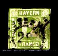 BAYERN, 1862, Used Stamp(s)   Number Stamps M12,  Scan 15186, 12 Kr Green - Bavaria