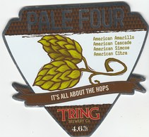 TRING BREWERY (TRING, ENGLAND) - PALE FOUR - PUMP CLIP FRONT - Signs