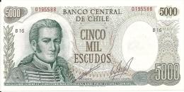 CHILI 5000 ESCUDOS ND UNC P 147 B - Chili