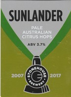 STONEHOUSE BREWERY (OSWESTRY, ENGLAND) - SUNLANDER - PUMP CLIP FRONT - Signs