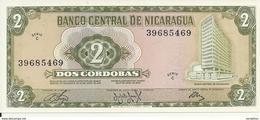 NICARAGUA 2 CORDOBAS 1972 UNC P 121  Serie C - Nicaragua