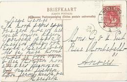 8Eb-463: N°51: HILVERSUM *1* 31.10.07 > Anvers /Laren(Gooi) Bij Den Haard ...kaart Wat Hersteld.. - Periode 1891-1948 (Wilhelmina)