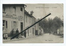 CPA Très Abîmée - Condé Folie -(Somme) - La Poste  -(Postes Télégraphes - Téléphones -Caisse National D'Epargne ) - France