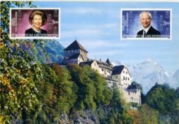 LIECHTENSTEIN  Castello E Francobolli Con I Reali (stampati, Non Applicati) A - Liechtenstein