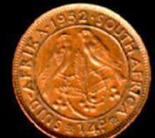 SOUTH AFRICA 1951-1952 1/4 Penny George VI KM 32.2 - South Africa