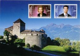LIECHTENSTEIN  Castello E Francobolli Con I Reali (stampati, Non Applicati) B - Liechtenstein
