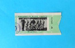 NK ORKAN - DUGI RAT Near Omis ( Croatia ) - Very Old Rare Football Match Ticket 1960's * Soccer Fussball Billet Kroatien - Match Tickets