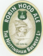 NOTTINGHAM BREWERY (NOTTINGHAM, ENGLAND) - ROBIN HOOD ALE - PUMP CLIP FRONT - Signs