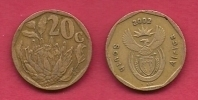 SOUTH AFRICA, 2002, 3 Off Nicely Used Coins 20 Cent C2098 - South Africa