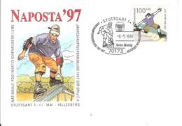 EMA ALLEMAGNE DEUTSCHLAND BUND GERMANY SPORT SKATE SKATEBOARD INLINE SKATING STUTTGART 1997 KILLESBERG FDC - Skateboard