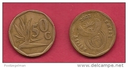 SOUTH AFRICA, 2003, 3 Off Nicely Used Coins 50 Cent C2080 - South Africa