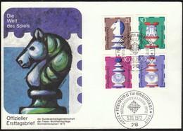 Germany Freiburg Im Breisgau 1972 / Wohlfahrtsmarken / Chess / FDC - Echecs