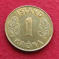 Iceland  1 Krona 1961 KM# 12a  Islandia Islande Island Ijsland - Island