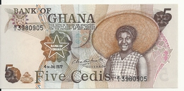 GHANA 5 CEDIS 1977 AUNC P 15 B - Ghana
