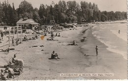 Playground At Beach, Port Elgin, Ontario RPPC - Ontario