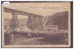 BELLUNO INVASA - GLI AUSTRIACI INAUGURANO IL PONTE FERROVIARIO 1918 - ( PLI ET USURE AUX ANGLES ) - Belluno