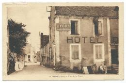 CPSM NOCE, RUE DE LA POSTE, PETITE ANIMATION DEVANT L'HOTEL, PUB PUBLICITE BYRHH, ORNE 61 - France
