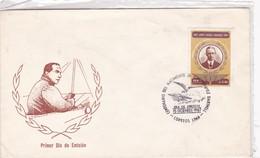CENTENARIO DEL NACIMIENTO DE JORGE CHAVEZ DARTNELL. FDC. AÑO 1987. PERU- BLEUP - Pérou