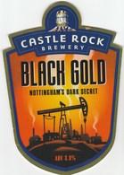 CASTLE ROCK BREWERY (NOTTINGHAM, ENGLAND) - BLACK GOLD - PUMP CLIP FRONT - Signs