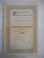 DISTILLERIE De CROISSET ROUEN 1881 - Autres