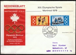 Germany Bonn / Olympic Games Montreal 1976 / Field Hockey, Rowing / Mi Bl 12 / FDC - Ete 1976: Montréal