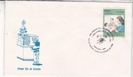 PRO NAVIDAD DEL TRABAJADOR POSTAL Y PRO COMEDORES INFANTILES. FDC. AÑO 1989. PERU- BLEUP - Pérou