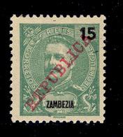 ! ! Zambezia - 1911 D. Carlos 15 R - Af. 58 - MH - Zambezia