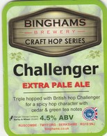BINGHAMS BREWERY (TWYFORD, ENGLAND) - CHALLENGER EXTRA PALE ALE - PUMP CLIP FRONT - Signs