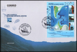 CARTOGRAPHY-ANTARCTIC-2018-ARGENTINA-OUTER LIMIT OF THE ARGENTINE CONTINENTAL SHELF- - FDC