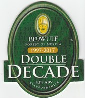 BEOWULF BREWING CO (BROWNHILLS, ENGLAND) - DOUBLE DECADE - PUMP CLIP FRONT - Signs